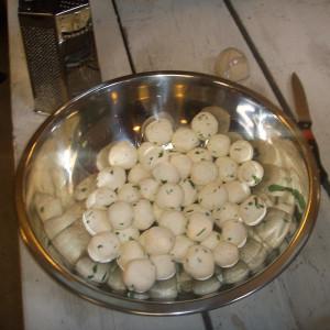 Panirballetjes - zelfgemaakte kaas